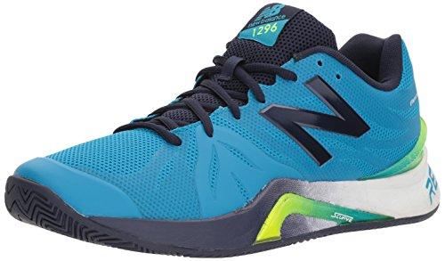 New Balance Men's 1296 V2 Tennis Shoe, Blue/Pigment, 8 2E US