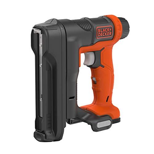 Black + Decker Akku-Tacker (Nagelgröße 14 – 16 mm, Kapazität für 86 Klammern, 20 Impulse/min. variable Schlagkrafteinstellung, für Polster- und Holzarbeiten, Lieferung ohne Akku und Ladekabel) BDCT12N