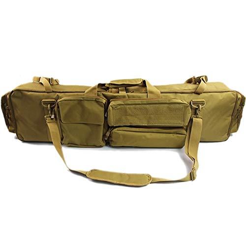 Vioaplem Militar Bolsa Mochila Pistola Doble Bolsa Caso del Rifle M249 Saw for M4A1 Carabina M16 AR15 Airsoft Bolsa Funda con Bandolera