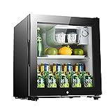 Gabinete de Vino, refrigerador de Bebidas Independientes, Mini Mini Bodega, Puerta de Vidrio Frontal Transparente, Temperatura silenciosa y Ajustable (Color : Black, Size : 51 * 40 * 44cm)