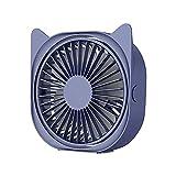 USB Ventilator, Mini USB Tischventilator Lüfter USB Fan 360 Grad Einstellbarer, 3 Geschwindigkeiten Mini-Schreibtisch Ventilator, Tischventilator Fan für Büro, Zimmer, Zuhause (Blau)