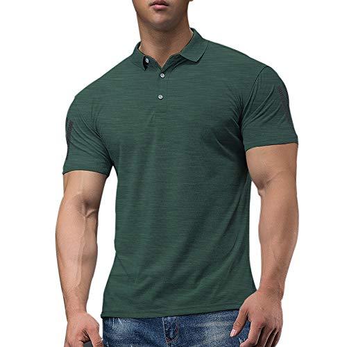 Hombres Polo De Golf De Manga Corta para Correr Casual De Secado Rápido, Camiseta De Entrenamiento Atlético Color Dark Gray Size L