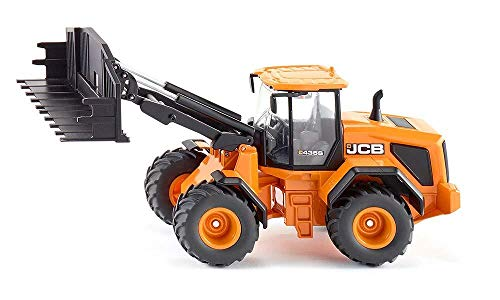 SIKU 3663, JCB 435S Agri Radlader, 1:32, Metall/Kunststoff, Orange, Frontladerwechselsystem
