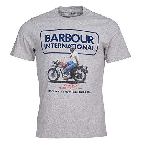 Barbour International T-Shirt für Herren, Grau Steve McQueen Relaxed Tee, MTS0695, MTS0695 XL