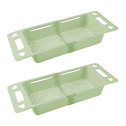 GeKLok Soporte de almacenamiento para fregadero con ventosa para fregadero de cocina, esquina para colgar en la esquina de la canasta para fregadero de cocina, baño (verde)