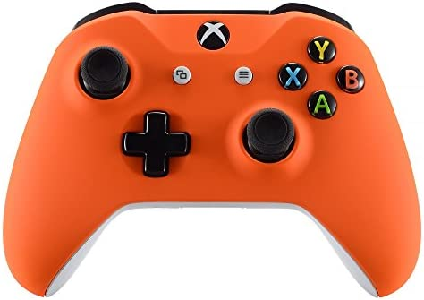 eXtremeRate Orange Soft Touch Front Housing Shell Case for Xbox One S X Controller Comfortable product image