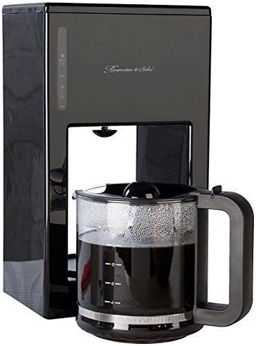 Rosenstein & Söhne Kaffeeautomat: Moderne Design-Kaffeemaschine für bis zu 12 Tassen, 1.000 Watt (Design Filterkaffeemaschine)