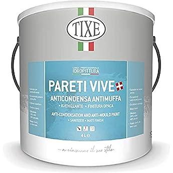 Foto di TIXE 651501 651.101 PARETI Vive IDROPITTURA ANTIMUFFA 01 LT, Bianco