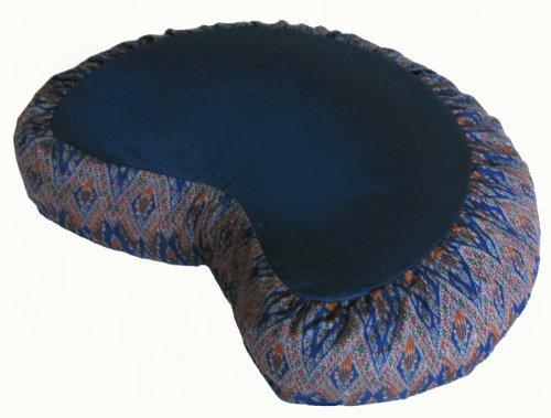 Cuscino da meditazione Zafu di grano saraceno Crescent Pillow, DiamondBlue