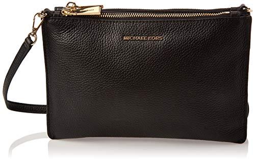 Michael Kors Womens Crossbody zipped clutch bag, Schwarz (Black), 15x10x5 cm