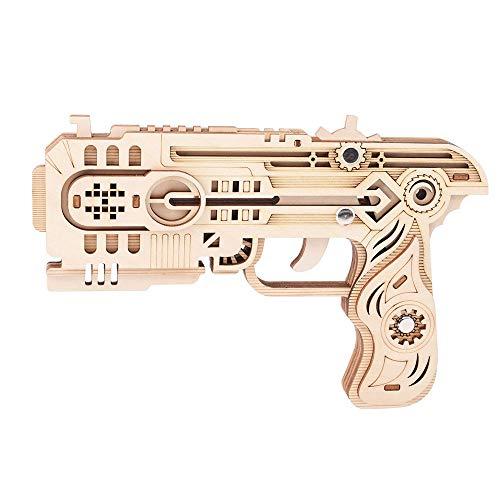 3D-Sicherheits-Holzgewehr Modell Puzzle, Spiel Holzfeuerwaffe Modell Puzzle, DIY Holz Gummiband-Gewehr-Model, Lernspielzeug Für Teenager, Kinder