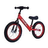 GASLIKE Bicicleta de Equilibrio para niños, sin Pedales, Ruedas de 12/14 Pulgadas, Asiento Ajustable, Primera Bicicleta para niños de 2-8 años de Edad, Estable y Segura,G 14inch Red