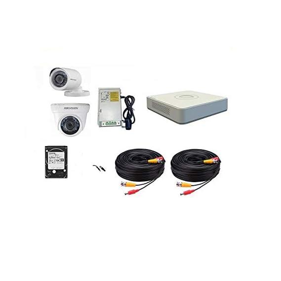 HIKVISION Full HD 2MP Cameras Combo Kit (HIK2MP1D1B1TBHDIP/IRP-ECO )