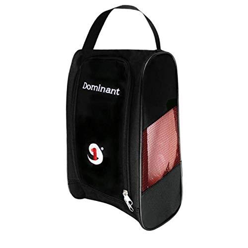 SZMYLED Golf Schuh Tasche Atmungsaktiv Tragbar Wasserdicht Reißverschluss Schuhetui Träger 4200 Synthetische Fasern Schwarz mit rotem Netz