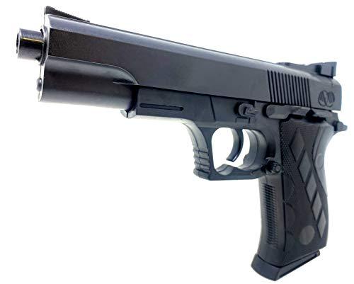 Softair Gun Set Airsoft Federdruck Pistole 22cm Inkl Magazin 0,48 Joule Black