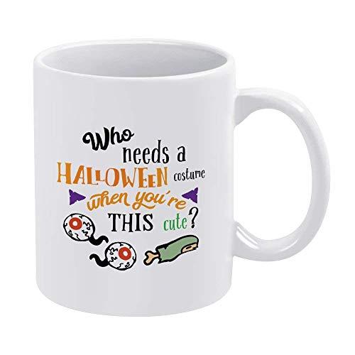 N\A Taza Que Necesita un Disfraz de Halloween, caf, t, cermica, Taza, Regalo para Empresario, Regalo para Empresario, Taza para Empresario, Regalo para el da del Padre, 11 oz