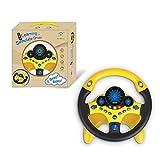KKPLZZ Volante Giocattolo, Volante per Bambini Giocattolo Elettronico Simulatore di Guida Giocattolo...