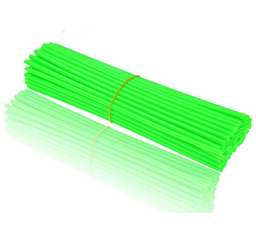 Springen 72 Pcs Bicycle Spoke Skins Wraps-Spoke Skins Covers -Best Gift for Kids&Schoolmate&Bike Fans (Green)