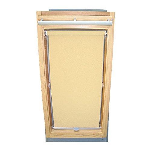 Hochwertiges Sichtschutzrollo Rollo für Velux RG-EP VK,VE,VS 045 Creme // Sichtschutzrollo/Sichtschutz-Rollo/Fensterrollo