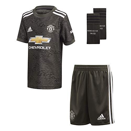 adidas Manchester United Temporada 2020/21 MUFC A Mini Miniconjunto Segunda equipación, Unisex, Negro, 98