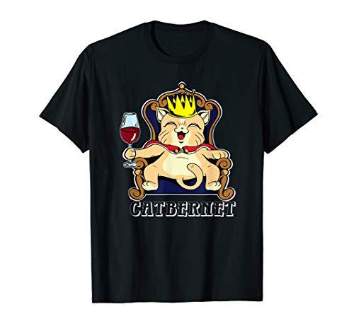 Catbernet,Katze Weinkönig,Cabernet,Geschenk Rotwein,Weinfest T-Shirt