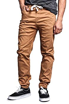 Victorious Mens Twill Jogger Pants Wheat 3X-Large