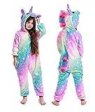 NewPlush One-piece Unicorn Costumes Animal Pajama Halloween Cosplay New Star Unicorn Kids-4