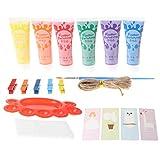 YOYOHO Juego de 6 Colores de Pintura para Dedos Lavable para niños Suministros de Pintura para Dedos Regalo para niños