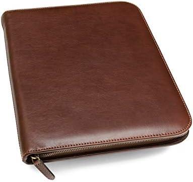 Maruse Left Handed Italian Leather Executive Padfolio Leather Portfolio Folder Organizer with product image