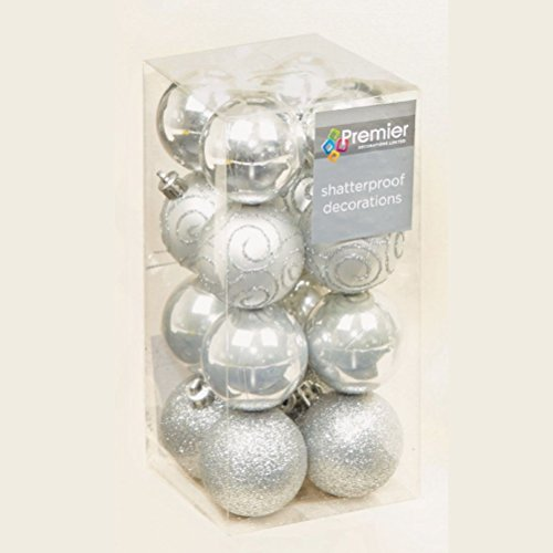 Uwant Mode zilveren toon Collectie Kerst Decoraties Baubles Sterren Kegels Harten Boom Topper
