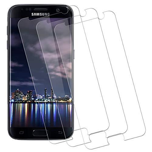 Verre Trempé Samsung S7,Film Protection Ecran[Dureté 9H] [Anti-Rayures] [sans Bulle d'air] [Anti-Huile] [Anti-Empreintes]Protecteur Vitre pour Samsung Galaxy S7[Lot de 3]