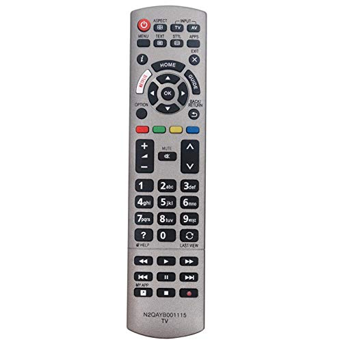 ALLIMITY N2QAYB001115 Fernbedienung Ersetzen für Panasonic Viera TV TX-40EX613 TX-40EX700 TX-49EXX689 TX-50EX700 TX-58EXT734 TX-58EXW734 TX-75EX750B TX-75EXR780 TX-75EXW784