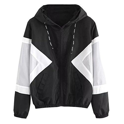 Damen Leicht Sport Jacken Frauen Übergangsjacke Jacke mit Kapuze Windbreaker Kapuzenjacke Sweatjacke Zip Hoodie Windjacke für Frühjahr und Herbst von Innerternet