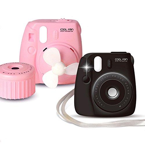 Unbekannt USB Wiederaufladbare Kamera Fan Outdoor Tragbare Studentenwohnheim Handheld Mini Neck Hängen Stille Für Home Office Travel Indoor Outdoor (Zufällige Farbe)