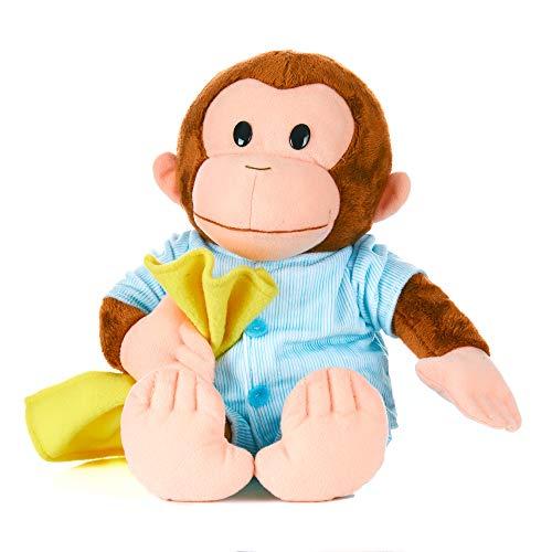 KIDS PREFERRED Curious George Monkey Plush - George in Pajamas 12