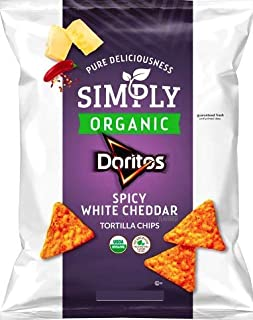 NEW Simply Doritos Spicy White Cheddar (Large 7.5 Oz, 1)