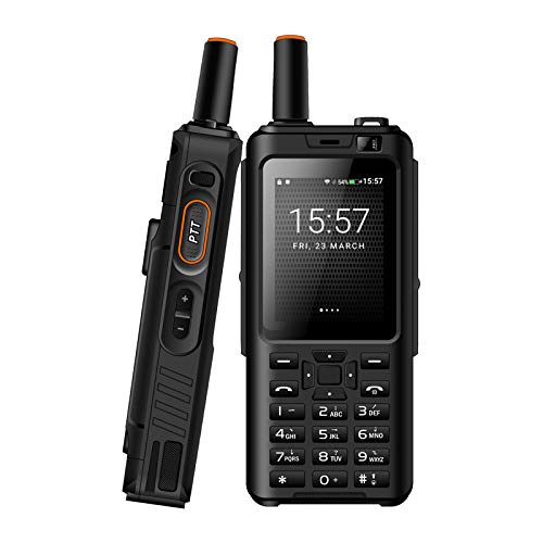 UNIWA Alps F40 Zello Walkie Talkie 4G Teléfono móvil IP65 Smartphone Resistente al Agua MTK6737M Quad Core Android Feature Phone (Negro, Standard Keyboard)