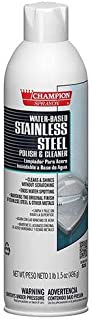 Stainless Steel Polish & Cleaner Water Based, Champion Sprayon 17.5 oz Can, Box of 3