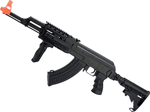 Evike Airsoft - CYMA Sport Airsoft Tactical AK47 AEG with Retractable Stock