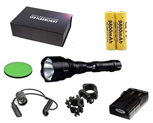 Linterna Trustfire original TR-T1-1 Led CREE XML-T6-1600 lm 2 baterias 9800 mAh...