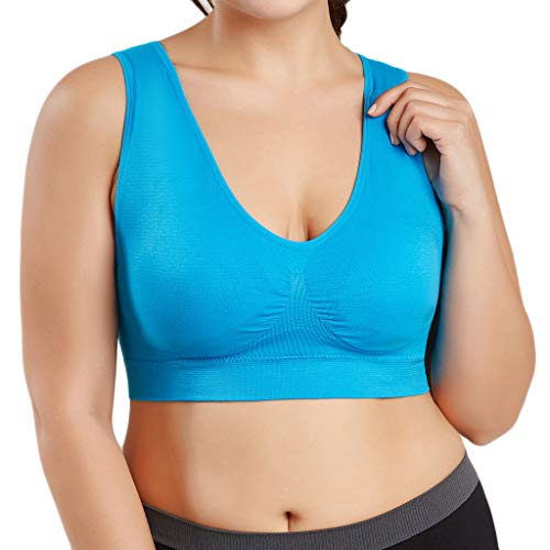 Best Review Of GDJGTA Women Plus Size Ultra-Thin Sports Bras Breathable High Impact Support for Yoga...