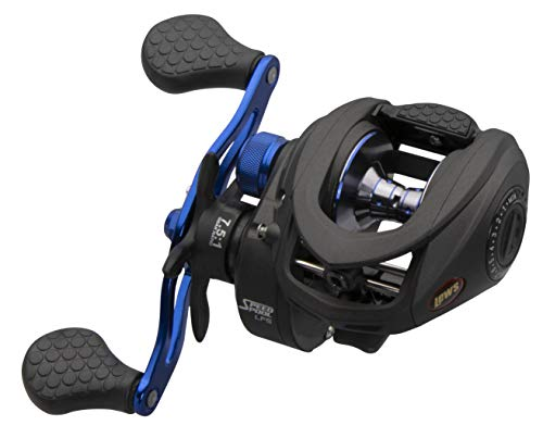 Lews Fishing SSN1SH Speed Spool Inshore LFS Baitcasting Reel, 7.5: 1 Gear Ratio, 6Bb+1Rb Bearings, 20 Max Drag, Right Hand