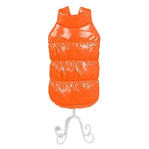 Outdoor gewatteerde jas voor kleine en middelgrote honden puppy vest verdikt vest fleece huisdieren kleding winterjas honden gilet warm gewatteerde vest dog coat, Small, oranje