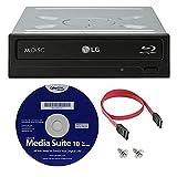 LG WH16NS40K Unidad grabadora de CD DVD BLU-Ray BDXL M-Disc 16X (con reproducción 3D) Paquete con Cyberlink y Cable