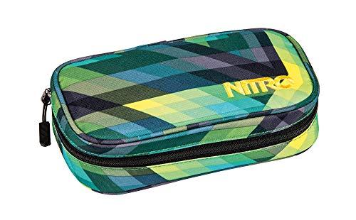 Nitro Pencil Case XL inkl. Geo Dreieick & Stundenplan, Federmäppchen, Schlampermäppchen, Faulenzer Box, Federmappe, Stifte Etui,  Geo Green