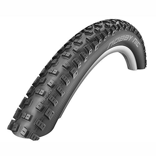 Schwalbe Fahrradreifen Nobby Nic Snakeskin TL-Easy Faltbar 57-559 B/B-SK HS463 GSC 67EPI EK, Schwarz, 26 x 2.25 cm
