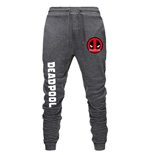 wywyet Deadpool Herren Sporthosen Cartoon Anime Jogginghosen Track Pants Freizeithosen Sweat Pants Lange Trainingshose Fitness Sport