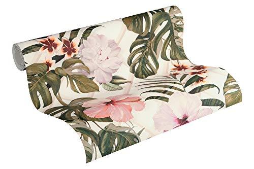 Michalsky Living Vliestapete Dream Again Tapete floral 10,05 m x 0,53 m grün rosa weiß Made in Germany 365181 36518-1