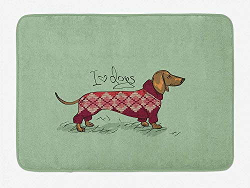 MMPTN teckel Chandail tricoté Chien conçu Couleur détaillée Style Bande dessinée modèle Animal Peluche décoratif doublure antidérapante matériau flanelle 40x60cm approprié intérieure