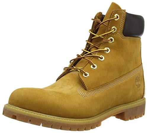 Timberland Mens 6' Premium Waterproof Boot Wheat Nubuck Leather 10.5 D...